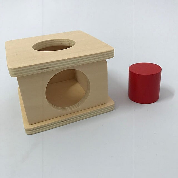 Imbucare Box with Small Red Cylinder
