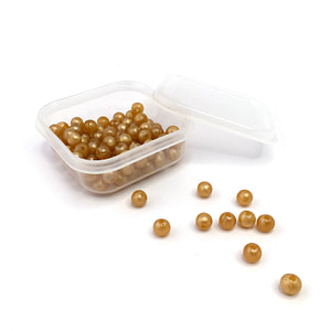 Set of 100 Golden Beads