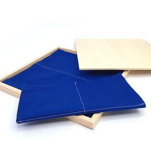 Open box showing the folding activity set