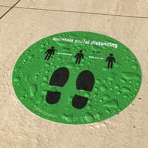 Floor Decals for Social Distancing