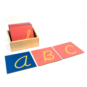 The Sandpaper Letters - Cursive