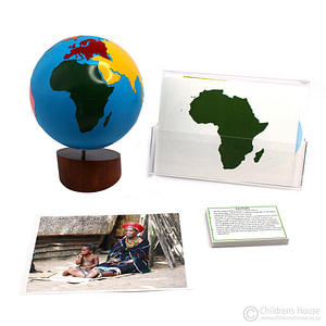 Africa Continent Cards